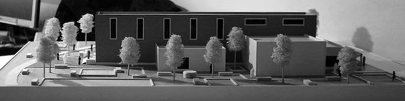 Archeologic Research Facilities Architectural Scale Model HEADER
