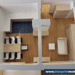 Model of an Interior House Compartmentation