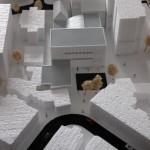 cultural centre monochrome scale model