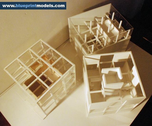 conceptual scale model  u2013 artist residence