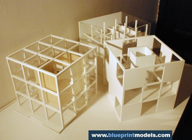 Conceptual scale model artist residence architectural for Conceptual model architecture