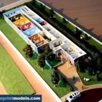 Kindergarten architecture model