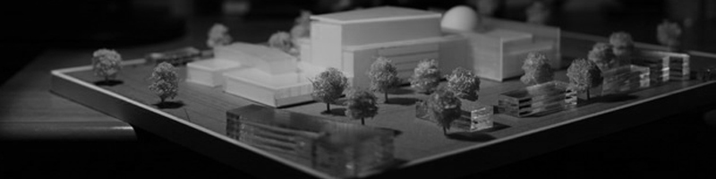 Philharmonic Center Architectural Scale Model HEADER