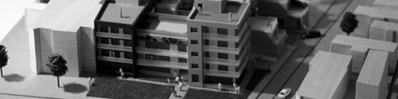 Residential Building Architectural Scale Model HEADER