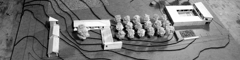 Rural Housing and Gardening Concept Architectural Scale Model HEADER