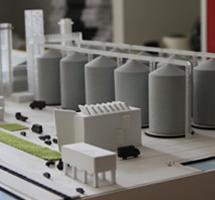 Industrial Buildings Scale Model