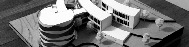 Spa and Welness Center near Danube River Architectural Scale Model HEADER