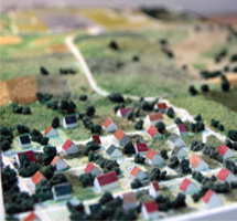 Topographical Model of a Hillside Area