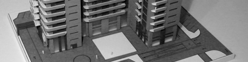 Traian Residencial Building Architectural Scale Model HEADER