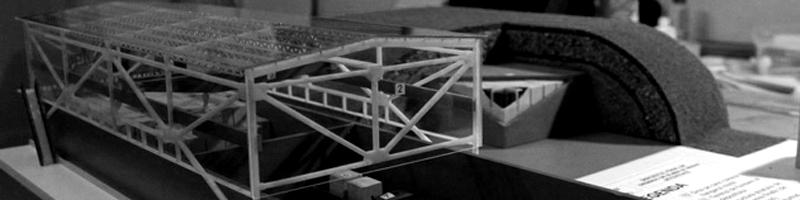 Underground Hangar Architectural Scale Model HEADER