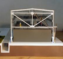 Underground Hangar Architectural Scale Model