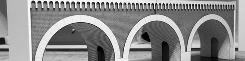 Viaduct du Paris Architectural Scale Model HEADER