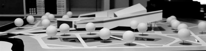 Visual Arts Center Architectural Scale Model HEADER