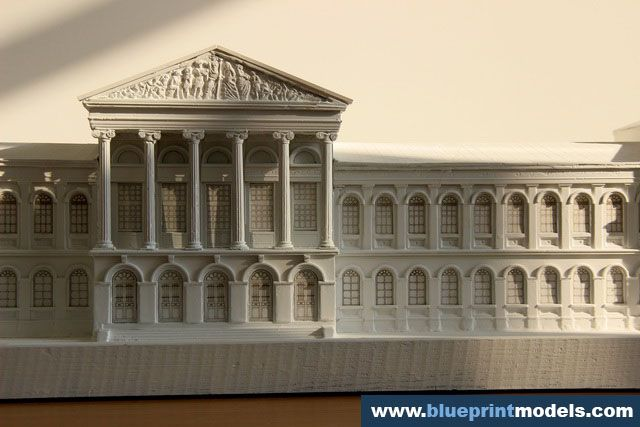 Plaster Architectural Scale Model, University of Bucharest