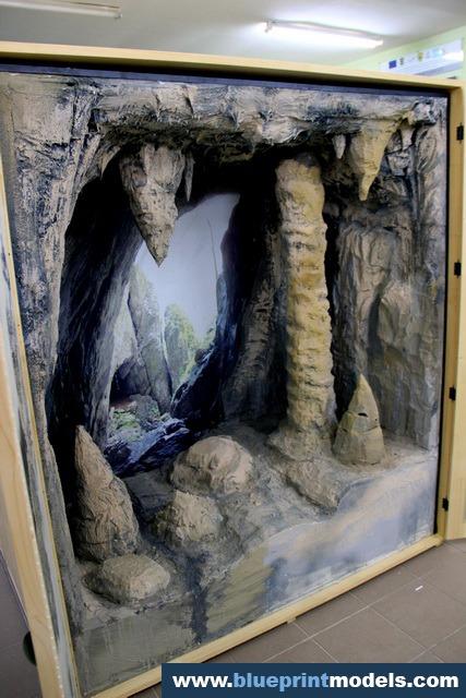 Museum Cave Habitat Diorama Architectural Scale Models