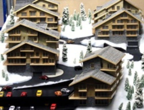Scale model – Mountain Villas, La Tzoumaz, Switzerland