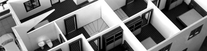 Demountable Villa Architectural Scale Model HEADER