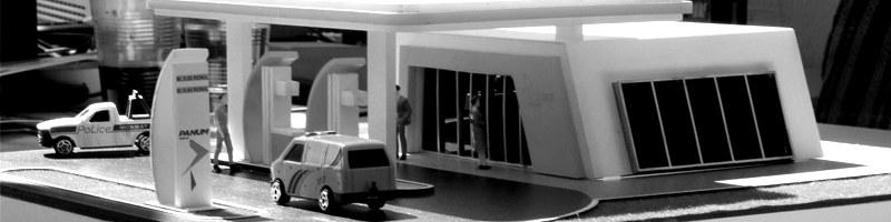 Gas Station Scale Model HEADER