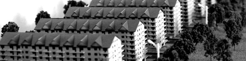Residential Development Area - Housing Scale Model HEADER