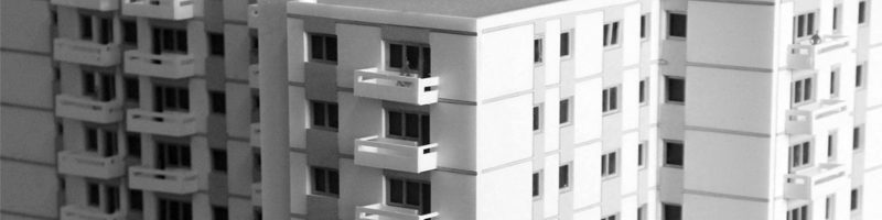 Residential Tower Building Architectural Scale Model HEADER