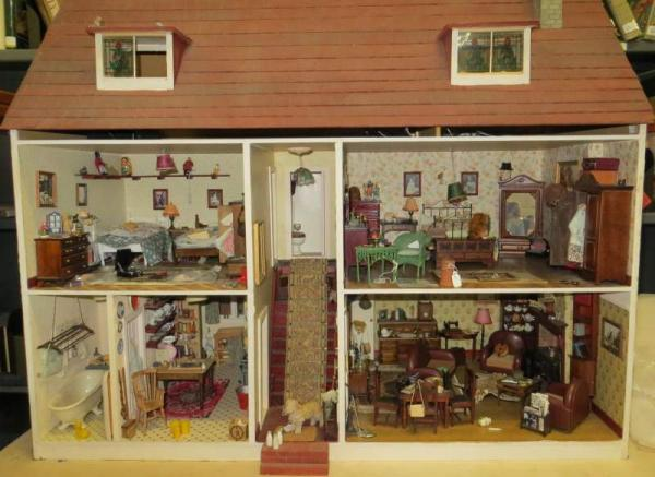 5 Dollhouses with British Domesticity Theme The Hopkinson House