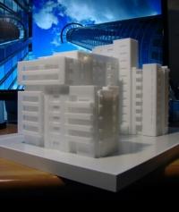 Acrilyc Block architecture model