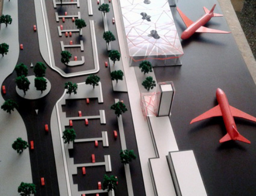 Airport Concept Architecture Scale Model