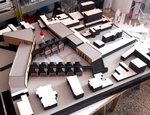 Conceptual and Volumetric School Architecture Scale Model
