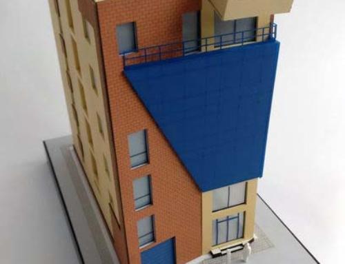 Concrete Office Building Architectural Model