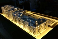 Envogue Residence Real Estate Development in Urban Area Architectural Model