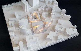 Germany Eschborn Office Building Contest Architectural Scale Models
