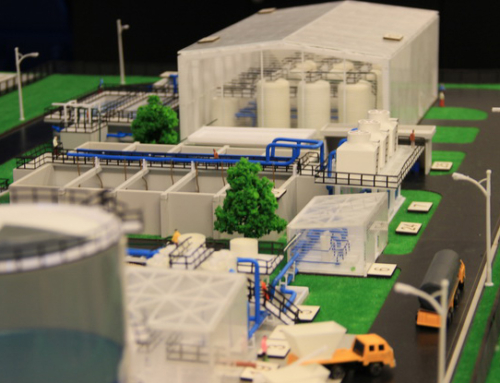 Layout Architectural Model state of Treatment Wabag Water Services