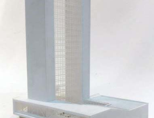 Skyscraper Hotel Architectural Scale Model
