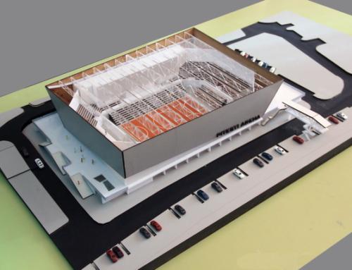 Sport Hall Arena Concept Architecture Scale Model
