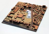 Urbanistic Architecture Scale Model of a City Central Area