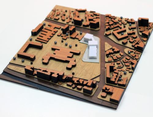 Urbanistic Architecture Scale Model of a City Central Area