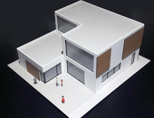 Villa with a Terrace Architectural Scale Model