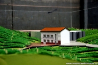 Winery and Factory Production Architecture Scale Model
